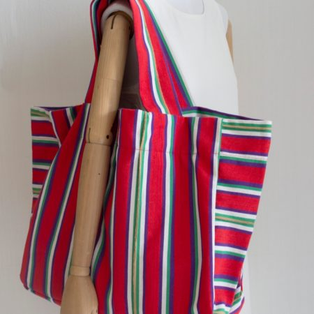 Bag XXL multicolours stripes made in Spain