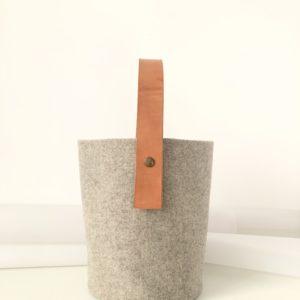 Bolso cubo de fieltro 100% lana certificada